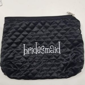 Bridesmaid quilted cosmetic bag